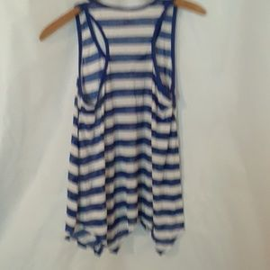 No Boundaries Tops - ❤Women's shirt size medium blue and white stripes